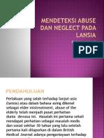 mendeteksi abuse and neglect pada lansia