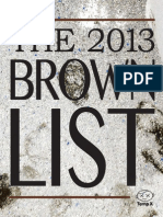 THE BROWN LIST - 2013