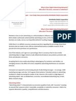 Why in-Store Digital Advertising Networks - Who Wins, The Store, Consumer or Advertiser? White Paper/Case Study