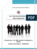 la communication de recrutement
