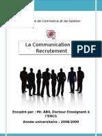 la communication de recrutement