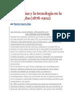 Las ciencias y la tecnología en la isla de Cuba