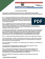 Resolución Observación Electoral Paraguay
