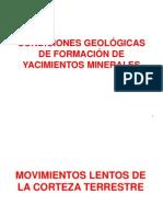 2ºSEMANA CONDICIONES GEOLÓGICAS DE FORM DE MINERALES  2º CLASE
