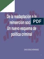 DE LA READAPTACIÓN A LA REINSERCIÓN SOCIAL