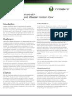 vFas Track Architecture with Virident FlashMAX and VMwareHorizon View