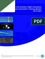 The Civil Aviation Flight Simulation and Simulation Training Market 2013-2023