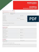 La Ferl a Wedding Proposal Form