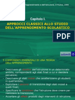 PSICOLOGIA DELL'APPRENDIMENTO_Outline Cap01