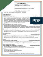 Resume Fall 2013