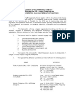 7 Application of Multinational Company for Registration - ROHQ (PDC)