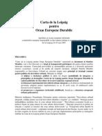 DOCUMENT - Carta Dezvoltarii Urbane Durabile