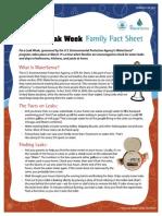 Fix a Leak Week Family Fact Sheet