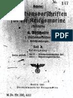 """M.Dv.190/4A1"" Munitionsvorschriften fur die Kriegsmarine (Artillerie) - 1941"
