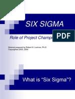 Six Sigma - Rolul campionilor de proiect
