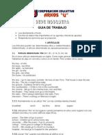 Guía 1 Ingles Artículos determinados- inderterminados