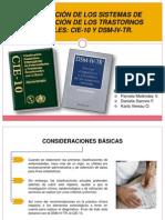 COMPARACIÓN CIE-10 Y DSM-IV TR