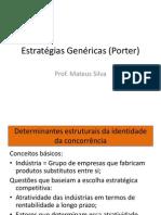Estratégias Genéricas (Porter)