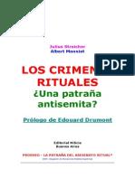 Albert Monniot - Los Crimenes Rituales Entre Los Judios