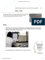 How to Detect Gas Leak