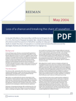 Loss of a Chance and Breaking the Chain of Causation - May 2004 - Kendall Freeman Article