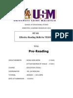 #Report - PreReading 12032012 (1)