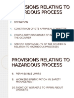 Provisions Relating to Hazardous Process