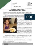 15/10/13 Germán Tenorio Vasconcelos UNA DIETA BALANCEADA AYUDA A QUE LOS NIÑOS CREZCAN SALUDABLES