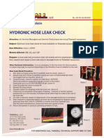 Hydronic Hose Leak Check