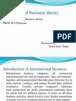 International Business Theory