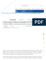 Como usar a busca avançada do Windows 7