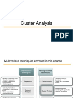 Cluster Analysis to Be Shared
