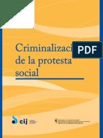 Informe Criminalización de la prostesta social reimpresión