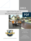 Geotextiles y Micropavimentos