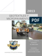 Geotextiles y Micropavimentos