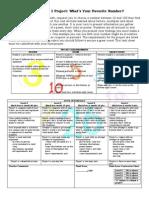 Prime Time Favorite Number Task Sheet