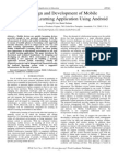 The Design and Development of Mobile Collaborative Learning Application Using Android, Kwang B. Lee, Raied Salman, 2012