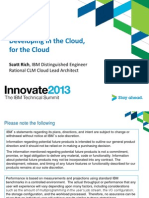 1 Developing in the Cloud for the Cloud