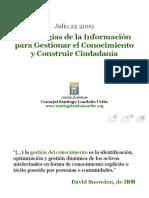 Tecnologías de la Informaciónpara Gestionar el Conocimientoy Construir Ciudadanía