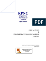 rpnc registered psychiatric nurses of canada code of ethics