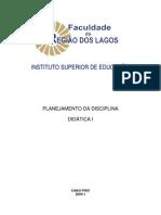 Planejamento Didatica i 200911