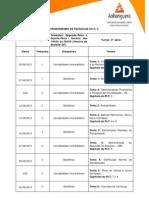 Cronograma Adm Segunda e Quarta