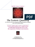 Fall 2013 Issue of The Esoteric Quarterly Features SOUL of LIGHT by Joma Sipe