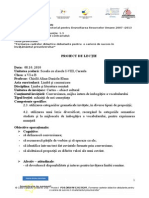 Proiect Didactic - Conversiune