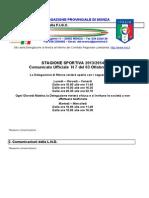 Comunicato 7 Monza
