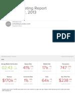 Sample web analytics report from analytics startup Measureful