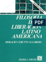 Filosofía de la liberación_Horacio Cerutti