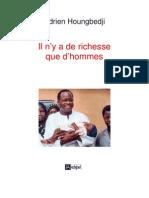 LIVRE - Il n'y a de richesse que d'hommes - Adrien Houngbedji -2005