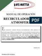 Manual de Mantenimiento Recirculador de Atmosfera
