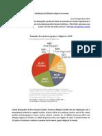 A distribuição das filiações religiosas no mundo